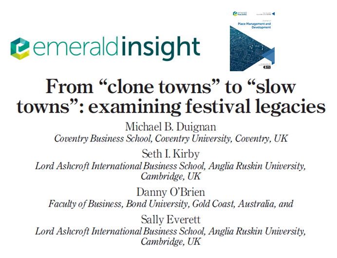 "From ""clone towns"" to ""slow towns"": examining festival legacies"
